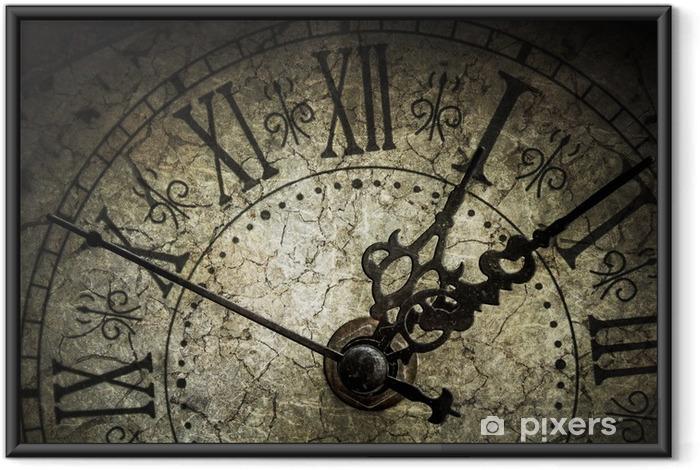 Poster i Ram Antik klocka - Klockor