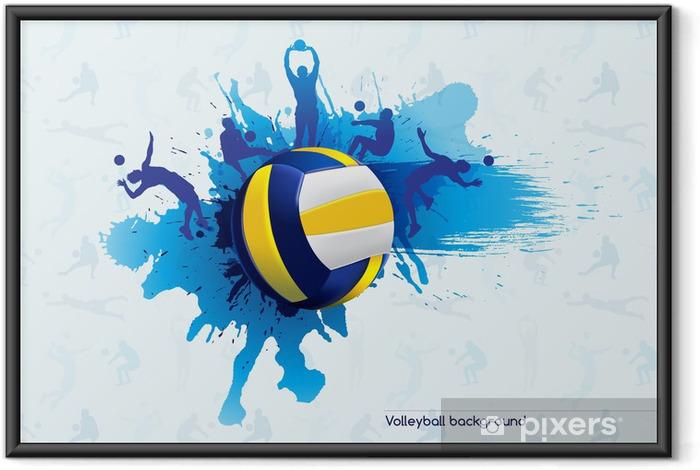 Poster en cadre Volley-ball abstrait - Volley-Ball