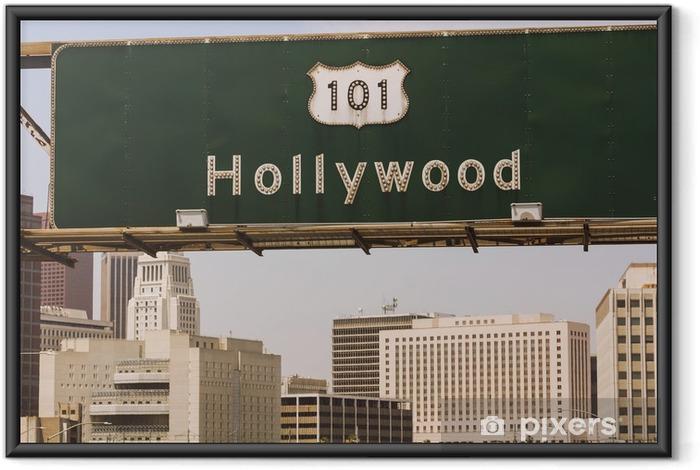 Ingelijste Poster Hollywood sign - Amerikaanse steden