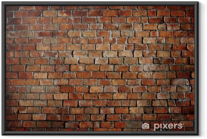 Poster i Ram Klassiska Vackra Strukturerad Brick Wall - Teman
