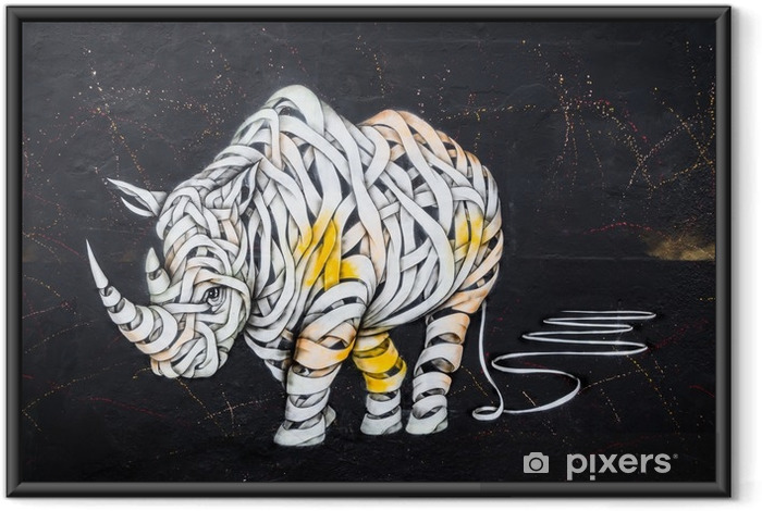Rhinoceros tag Framed Poster - Hobbies and Leisure