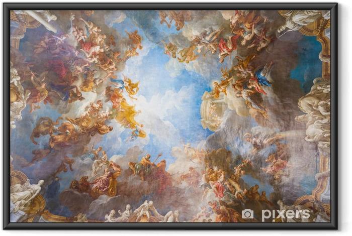 Çerçeveli Poster Paris, France yakınlarındaki Palace Versailles tavan boyama - Abideler