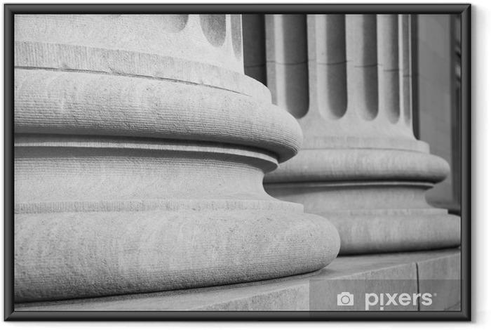 Póster Enmarcado Columnas de arquitectura en una buuilding Federal Classic - Construcciones y arquitectura
