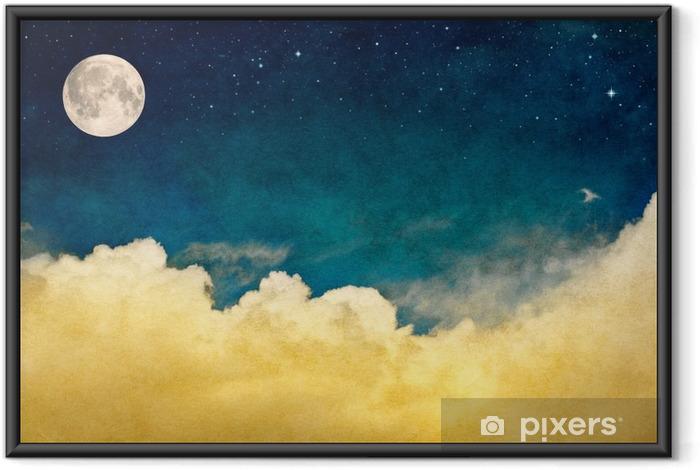 Çerçeveli Poster Dolunay ve Cloudscape - Manzaralar
