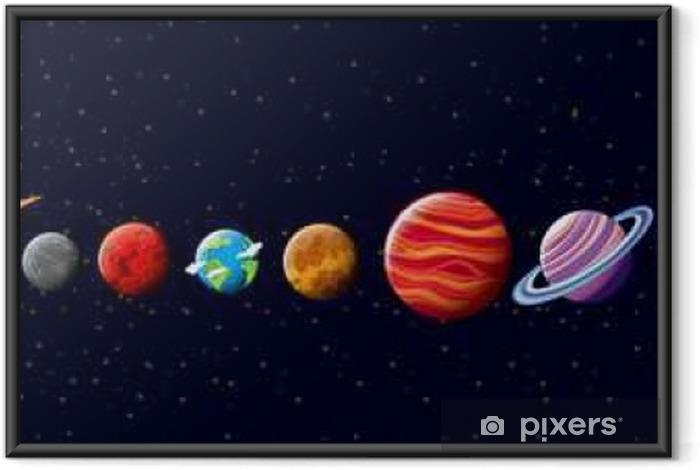 Ingelijste Poster Planeten in het zonnestelsel - Grafische Bronnen