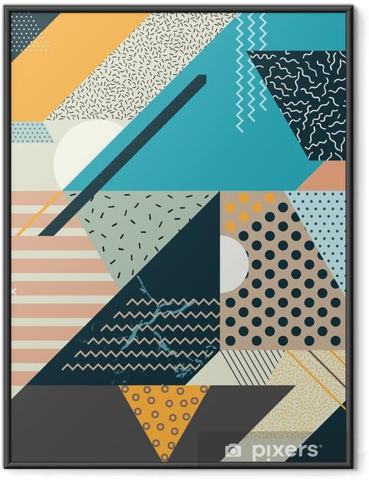 Plakat w ramie Art geometryczne tle - Canvas Prints Sold