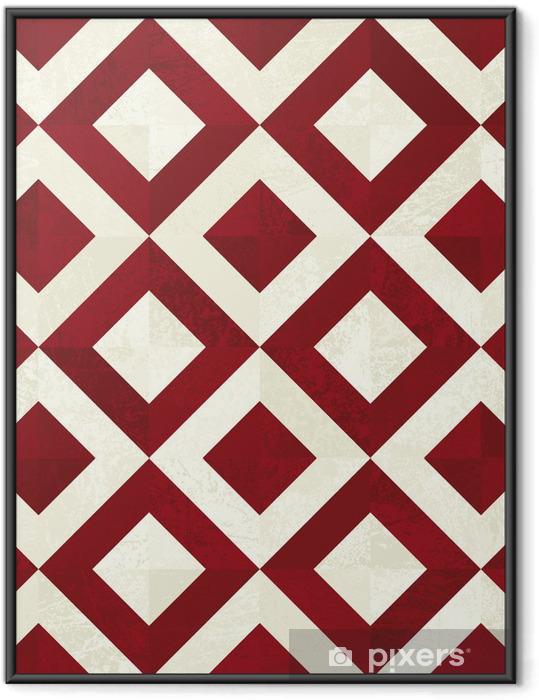 Póster com Moldura seamless tile background - Fundos