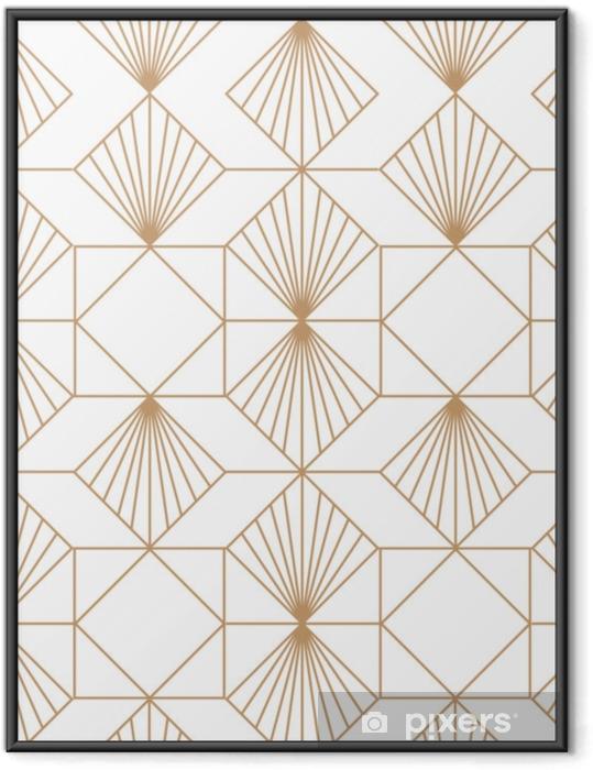 Art deco retro sømløse mønster. vektor kunst. Indrammet plakat - Grafiske Ressourcer