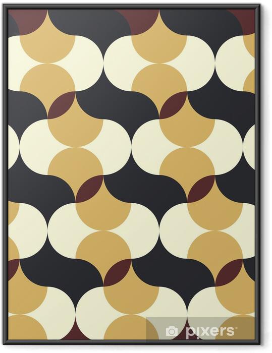 Plakat w ramie Streszczenie retro geometryczny wzór - Tła