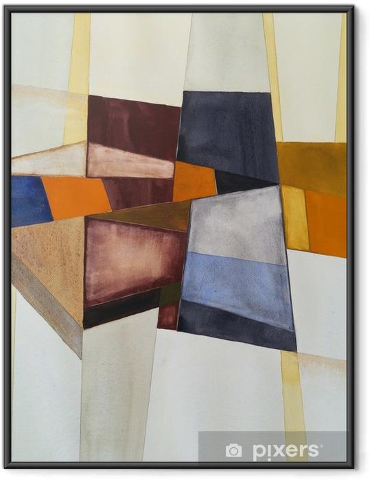 Plakat w ramie Modernistyczny abstrakcyjna akwarela - Hobby i rozrywka