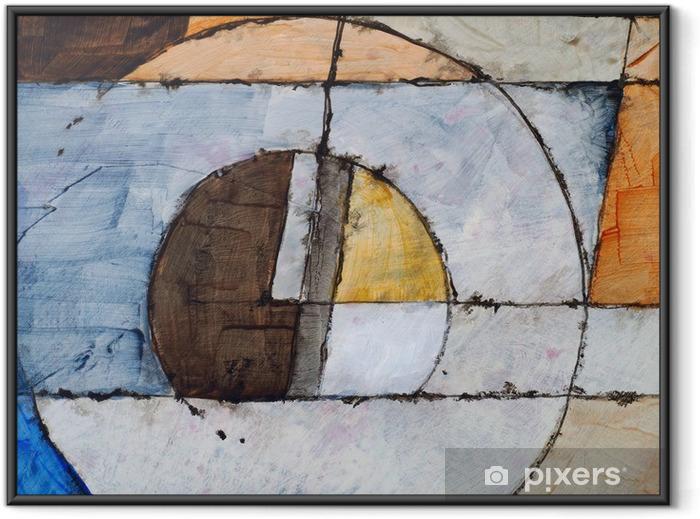 Plakat w ramie Malarstwo abstrakcyjne - Styl życia