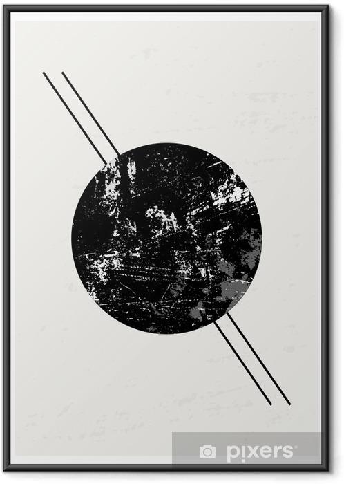 Poster i Ram Abstrakt geometriskt komposition - Grafiska resurser