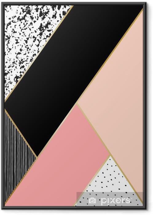Plakat w ramie Kompozycja abstrakcyjna geometrycznej - Zasoby graficzne