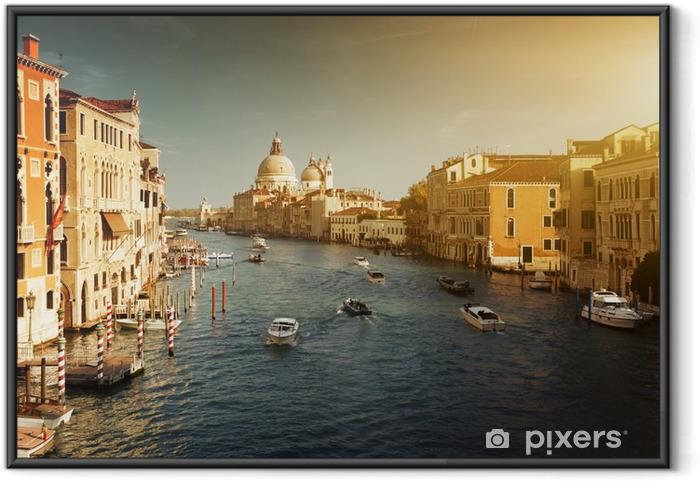 Poster i Ram Canal Grande och basilikan Santa Maria della Salute, Venedig, Italien - Teman
