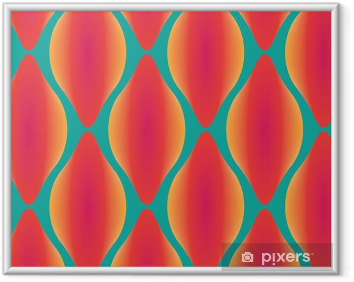 Ingelijste Poster Vector kleurrijke abstracte moderne naadloze geometrisch patroon - Grafische Bronnen
