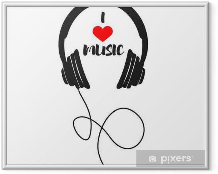 Póster Enmarcado Me gusta la música - Recursos gráficos