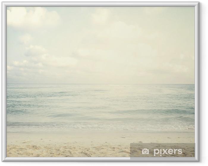 Vintage tropisk strand om sommeren Indrammet plakat - Landskaber