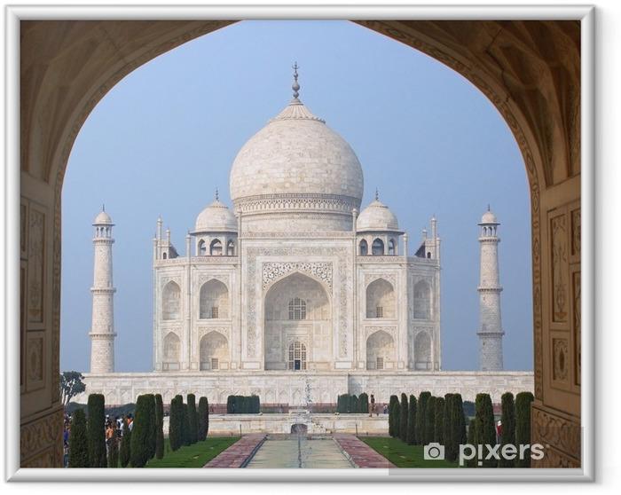 Ingelijste Poster Taj Mahal - Agra, India - Azië