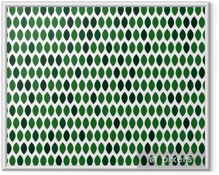 Plakat w ramie Tło wektor z zielonymi liśćmi - Zasoby graficzne