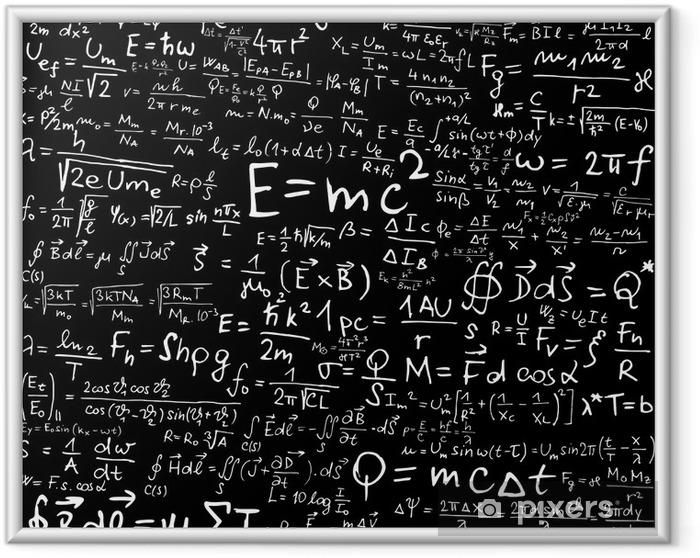 Plakat w ramie Wzory i równania fizyczne - Styl życia