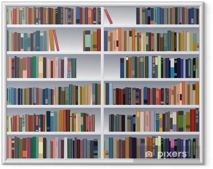Poster en cadre Vecteur bibliothèque moderne - Bibliothèque