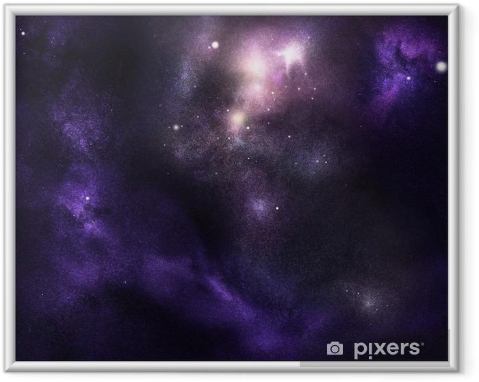 Plakat w ramie Głębokie Cosmos - Przestrzeń kosmiczna