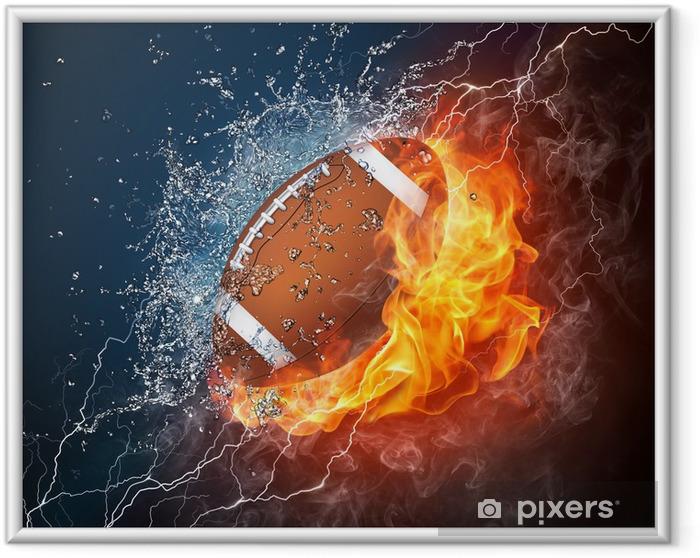 Ingelijste Poster Voetbal bal - American Football
