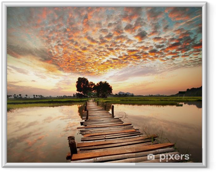 Plakat w ramie Rzeka na zachód słońca -