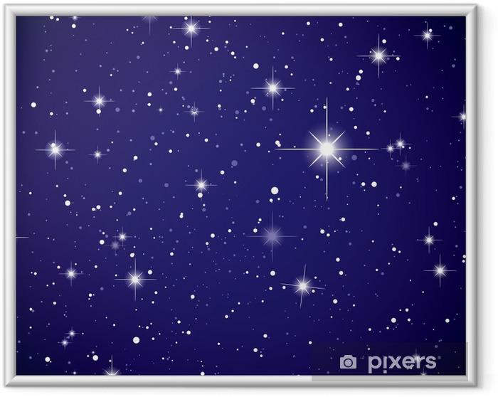 Rumudsigt stjernehimmel Indrammet plakat -