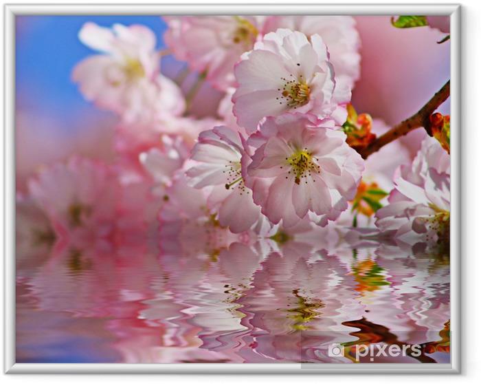 Plakat w ramie Cherry w wodzie - Jabłonie