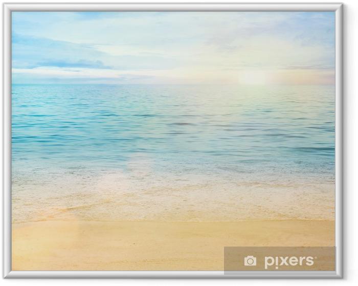 Poster en cadre Mer et sable de fond - Styles
