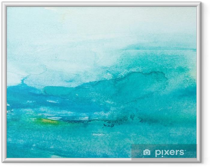 Ingelijste Poster Kleur lijnen aquarel schilderij kunst - Stijlen