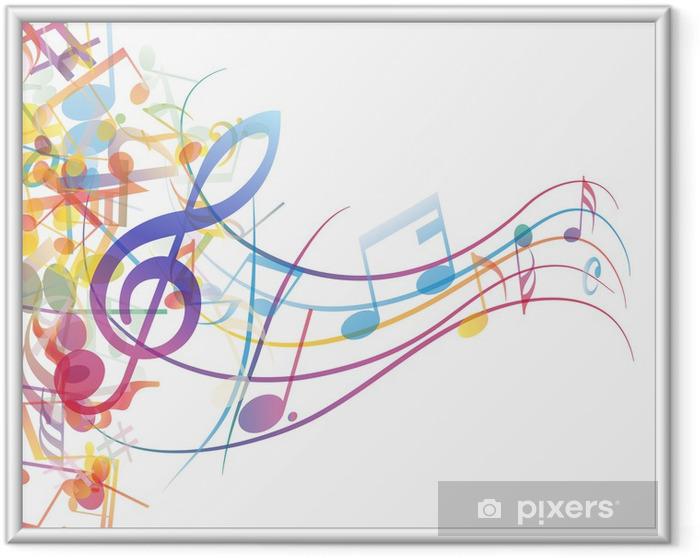 Póster Enmarcado Notas personal - Música