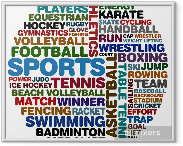 Plakat w ramie Sports collage - Sporty drużynowe