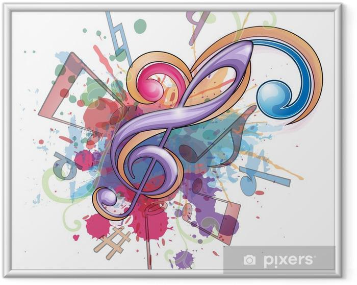 Music_1 Kehystetty juliste - Musiikki
