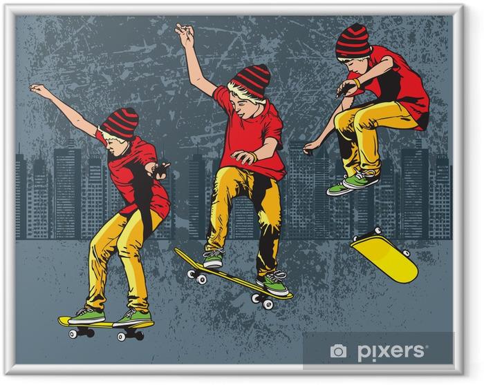 Póster Enmarcado Skateboarding - Skate