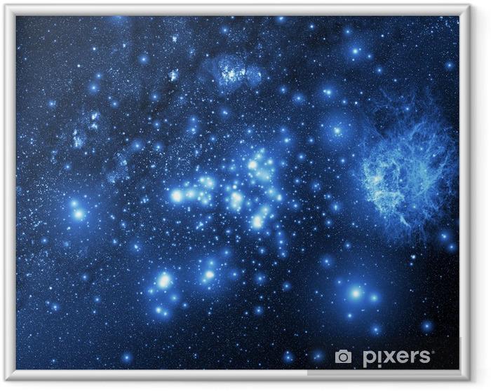 Galakse (Collage fra billeder fra www.nasa.gov) Indrammet plakat -