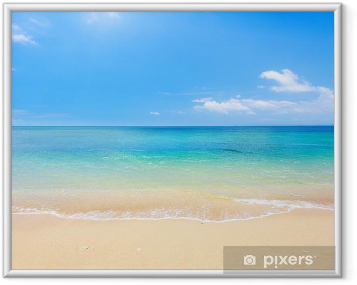 Póster Enmarcado Playa y mar tropical - Playa y las zonas tropicales