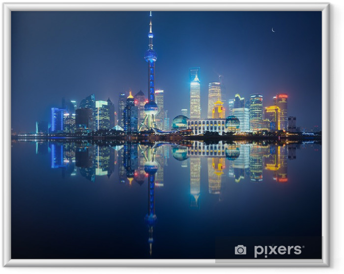 Poster en cadre Shanghai skyline - Villes d'Asie