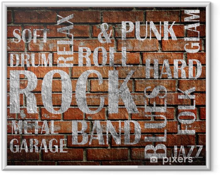 Poster en cadre Grunge affiche de musique rock - Rock