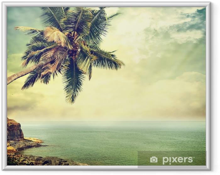 Ingelijste Poster Tropisch eiland -