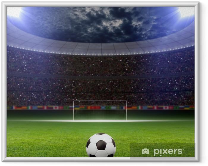 Plakat w ramie Stadion piłkarski - Tematy