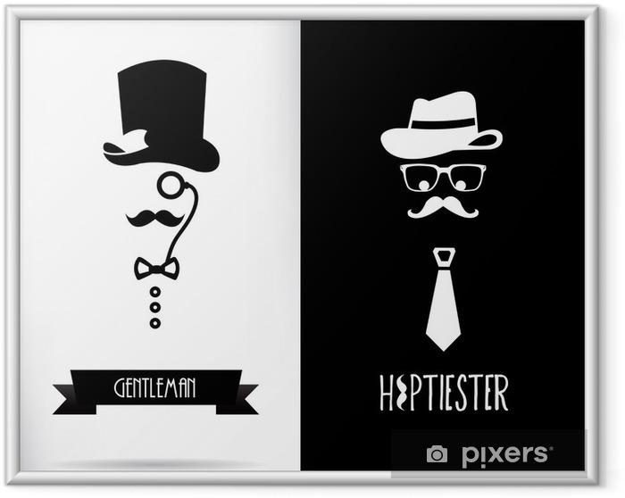 Poster en cadre Gentleman et hippie - Moustache