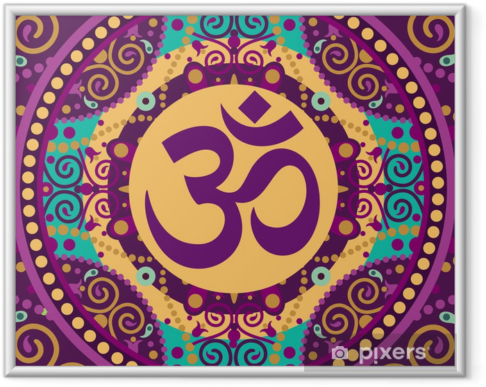 Poster en cadre Mandala ohm - Thèmes