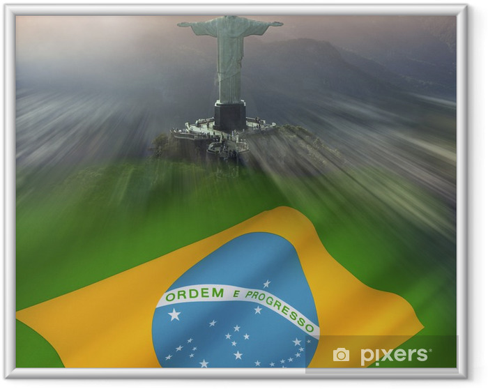 Poster i Ram Kristus Frälsaren Rio De Janeiro Brasilien - Brasilien