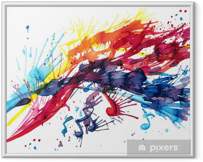 Póster Enmarcado Música abstracta - Música