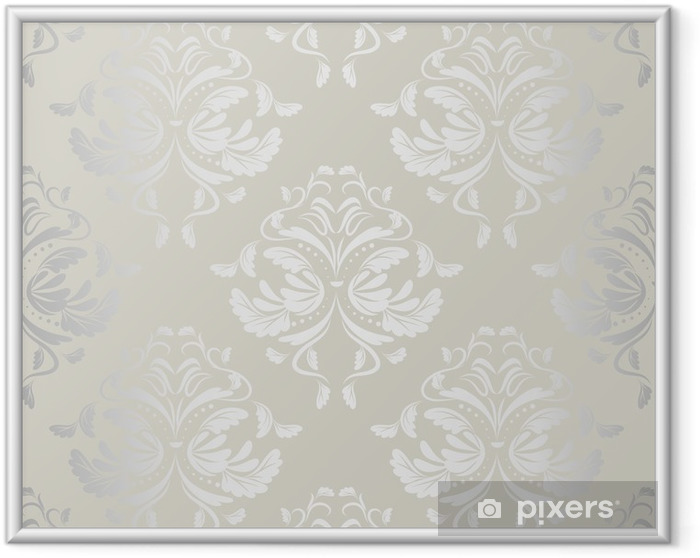 Poster en cadre Wallpaper.damask sans soudure de fond pattern.floral - Thèmes