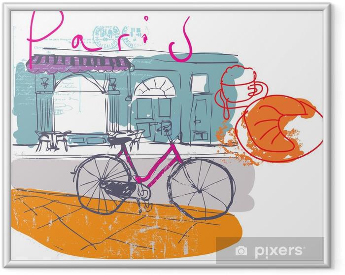 Plakat w ramie Paryz caffe - Tematy