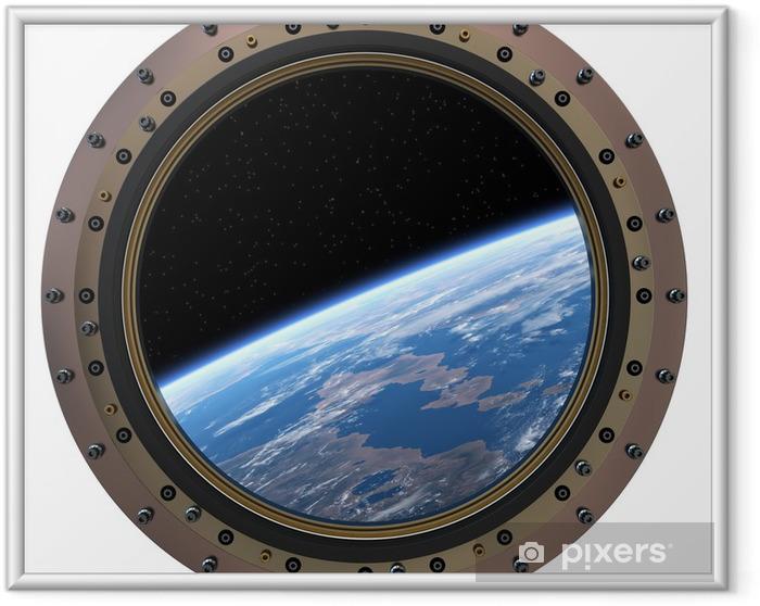 Ingelijste Poster Space Station Patrijspoort. - Ruimte