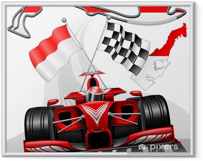 Ingelijste Poster Formule 1 GP van Monaco - Thema's